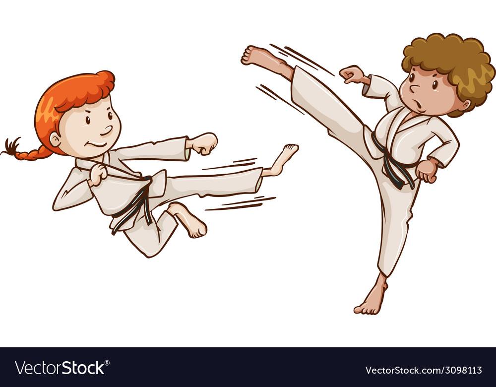 Young martial arts experts vector | Price: 1 Credit (USD $1)