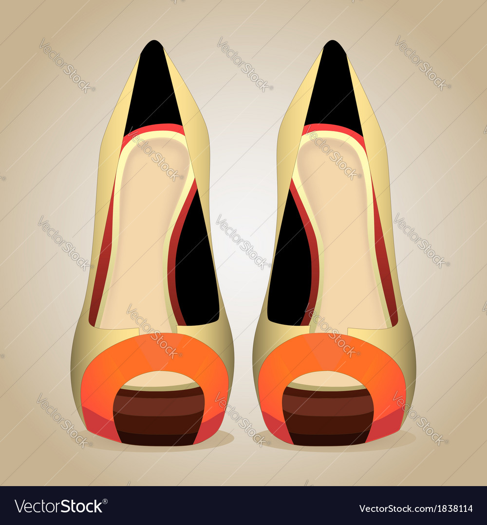 A high-heeled shoes isolated vector | Price: 1 Credit (USD $1)