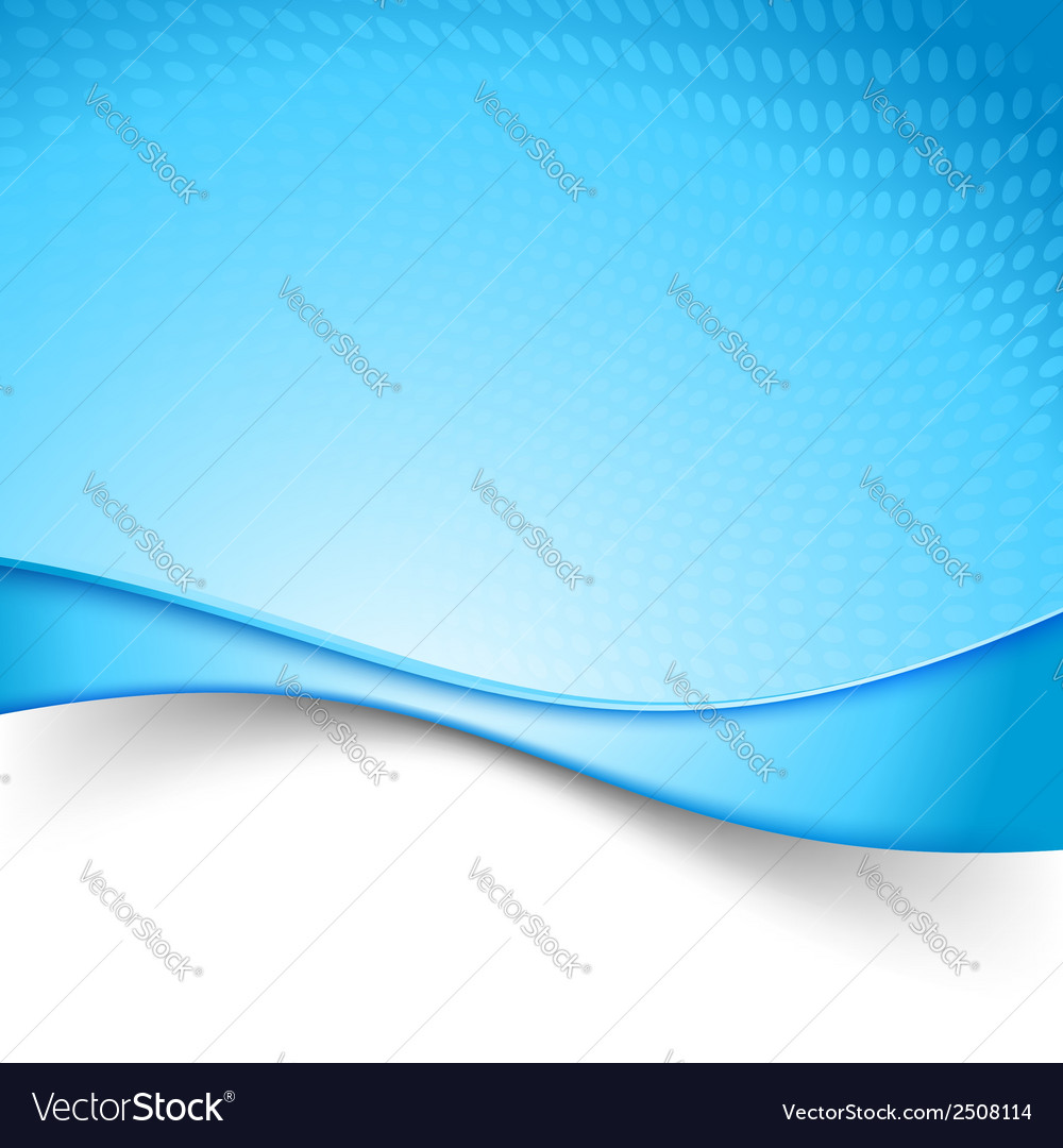 Blue power swoosh wave background vector | Price: 1 Credit (USD $1)