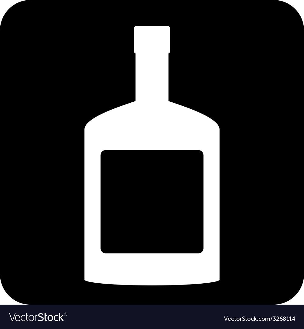Bottles of cognac button vector | Price: 1 Credit (USD $1)