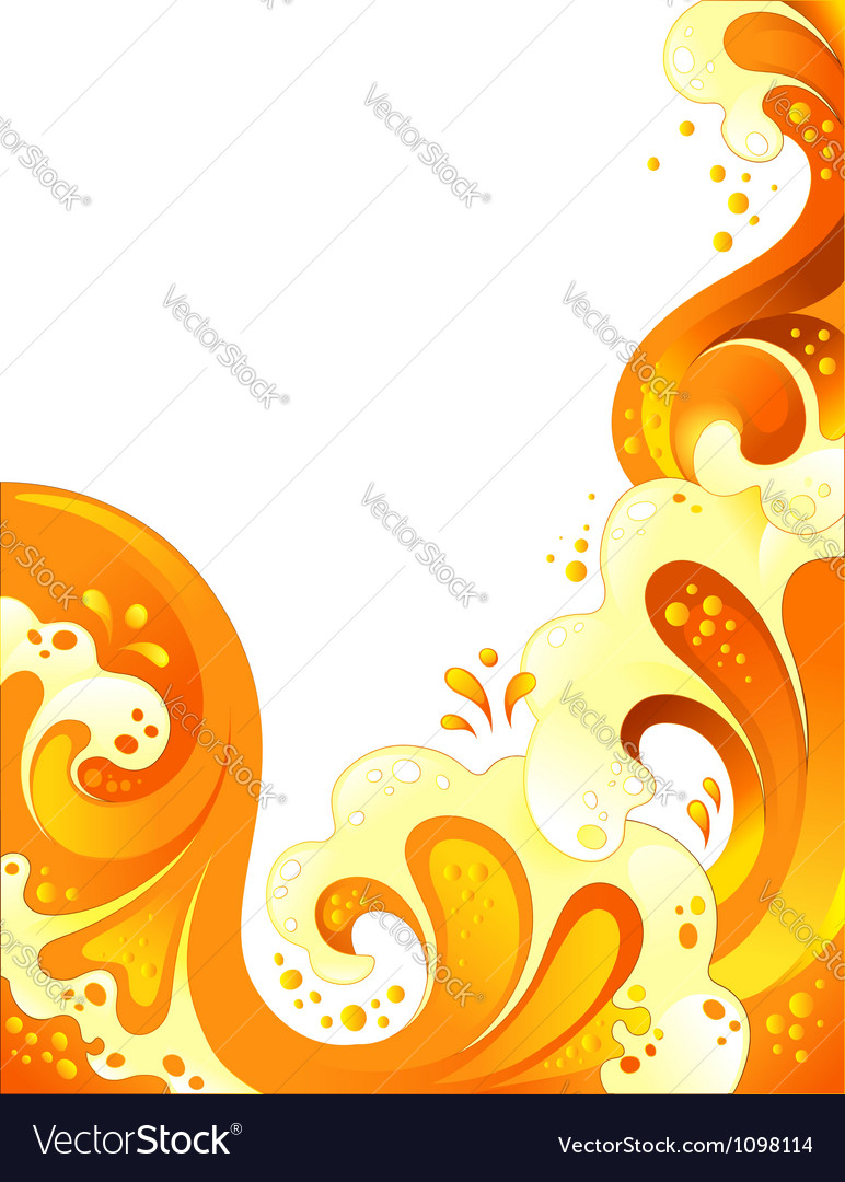 Drink wave background vector | Price: 1 Credit (USD $1)
