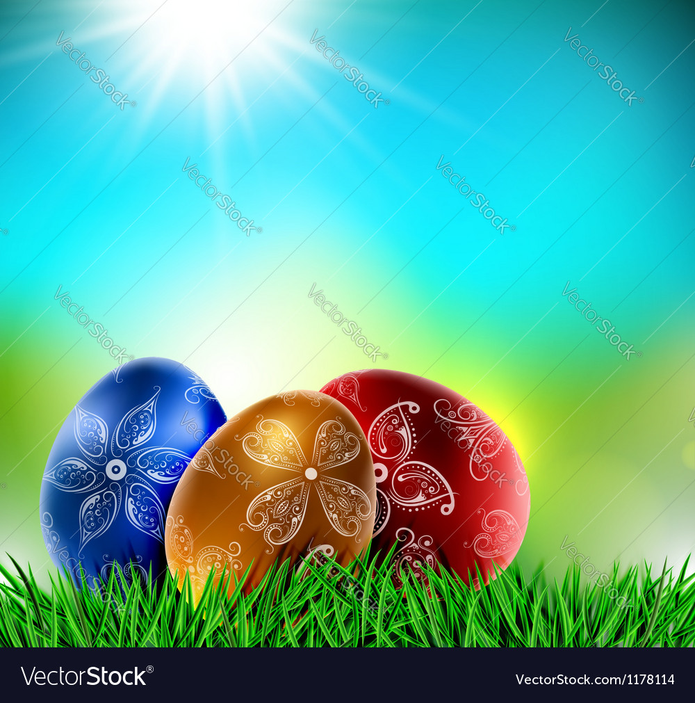 Eggs on natural background vector | Price: 1 Credit (USD $1)