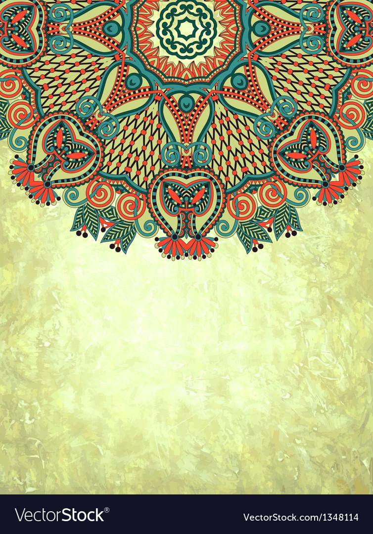 Flower design on grunge background vector   Price: 1 Credit (USD $1)