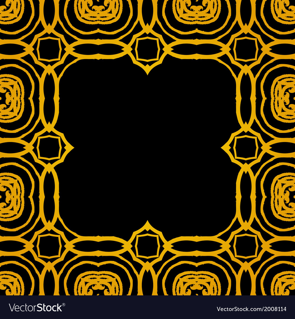 Geometric art deco frame with gold shapes vector | Price: 1 Credit (USD $1)