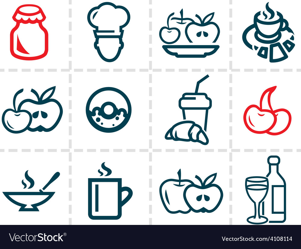 Line food icons vector | Price: 1 Credit (USD $1)