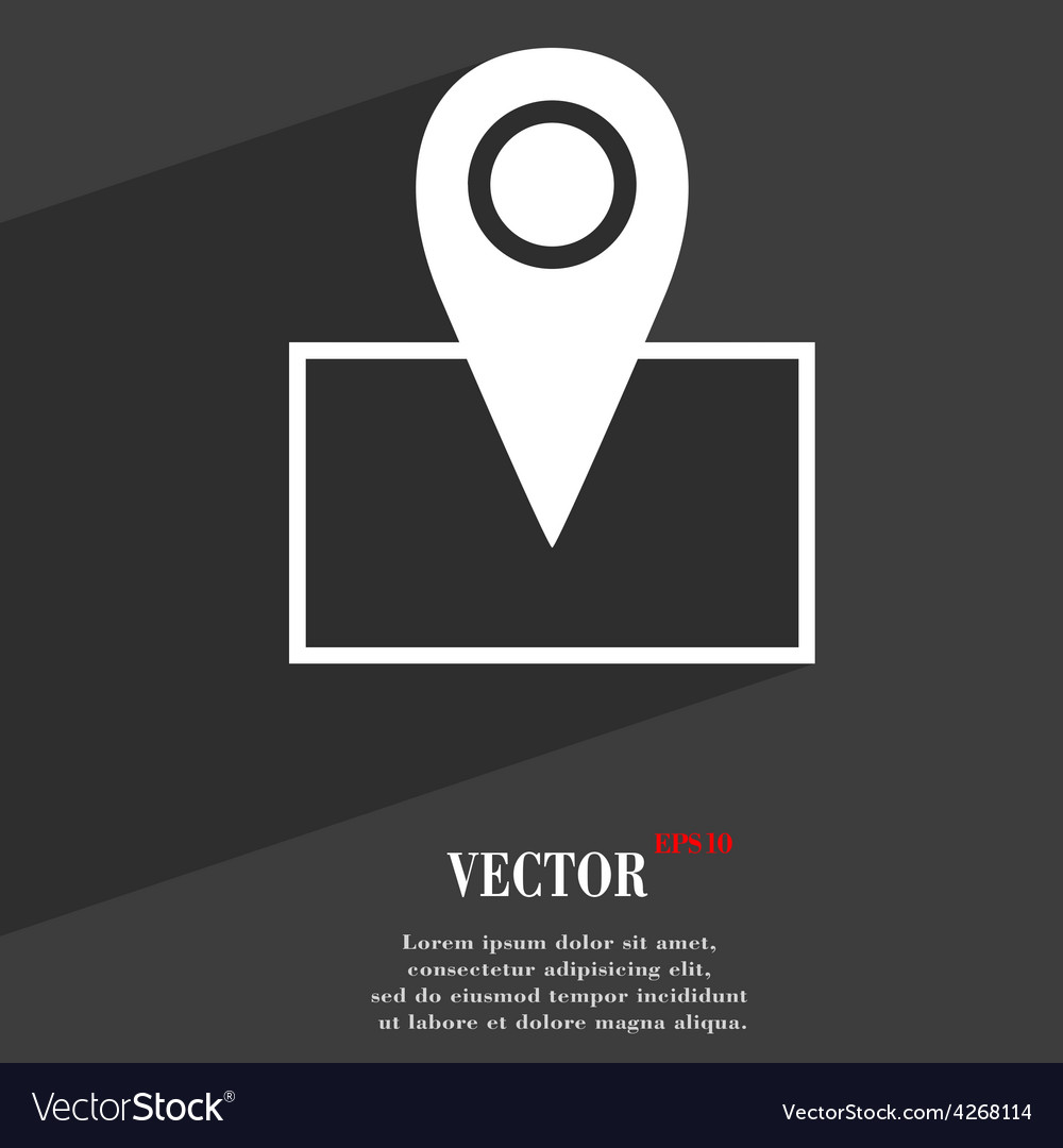 Map pointer icon symbol flat modern web design vector | Price: 1 Credit (USD $1)