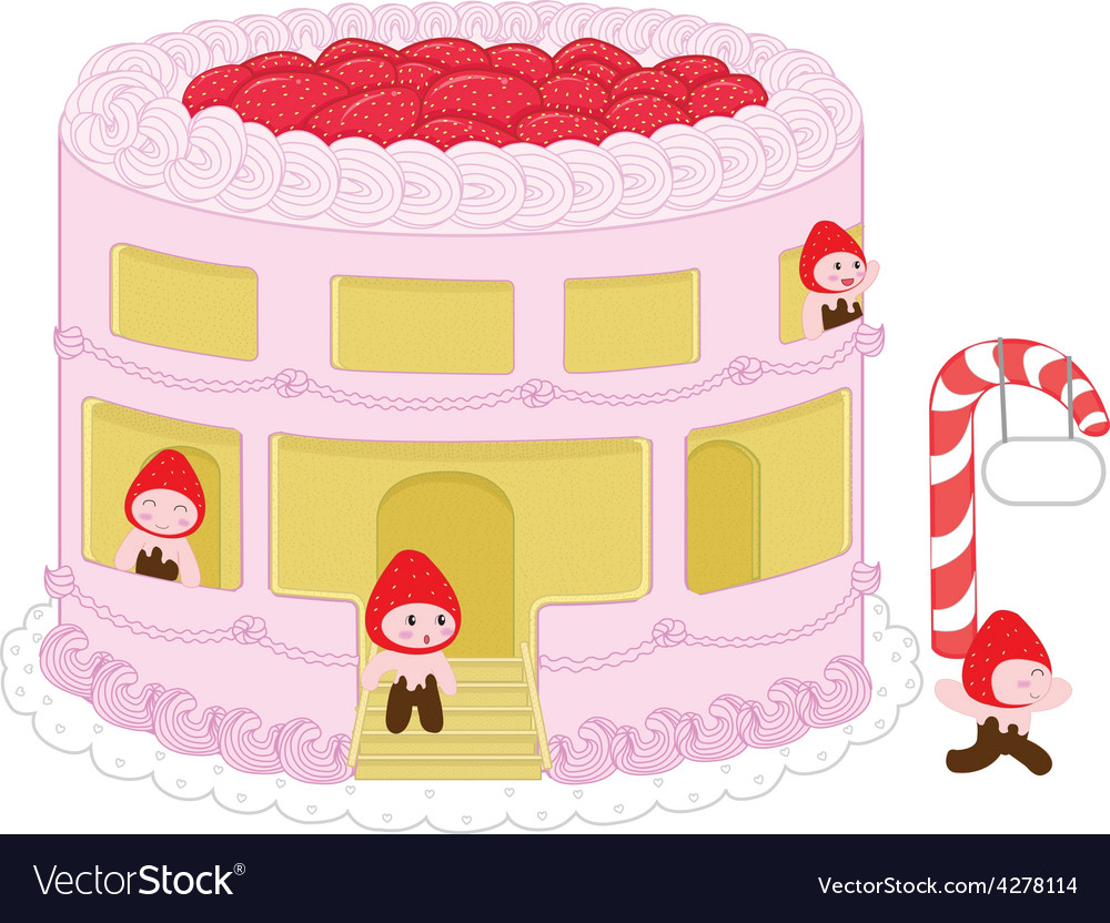 Strawberry cheesecake home and resident vector   Price: 1 Credit (USD $1)