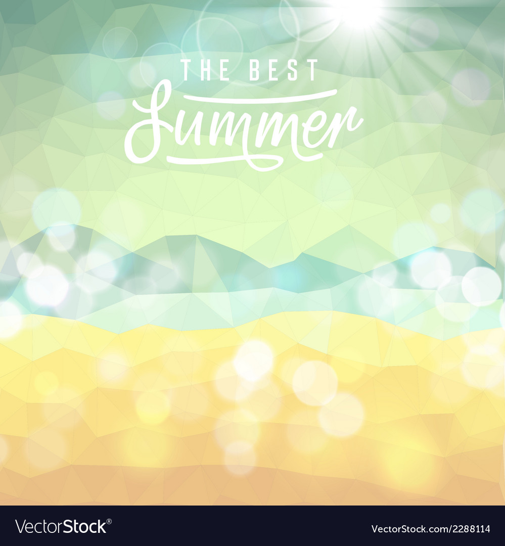 Summer tropical beach background vector | Price: 1 Credit (USD $1)