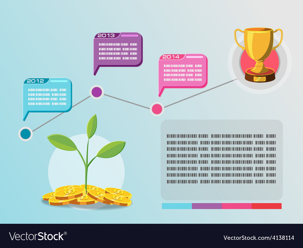 Timeline info graphic business plan vector | Price: 3 Credit (USD $3)