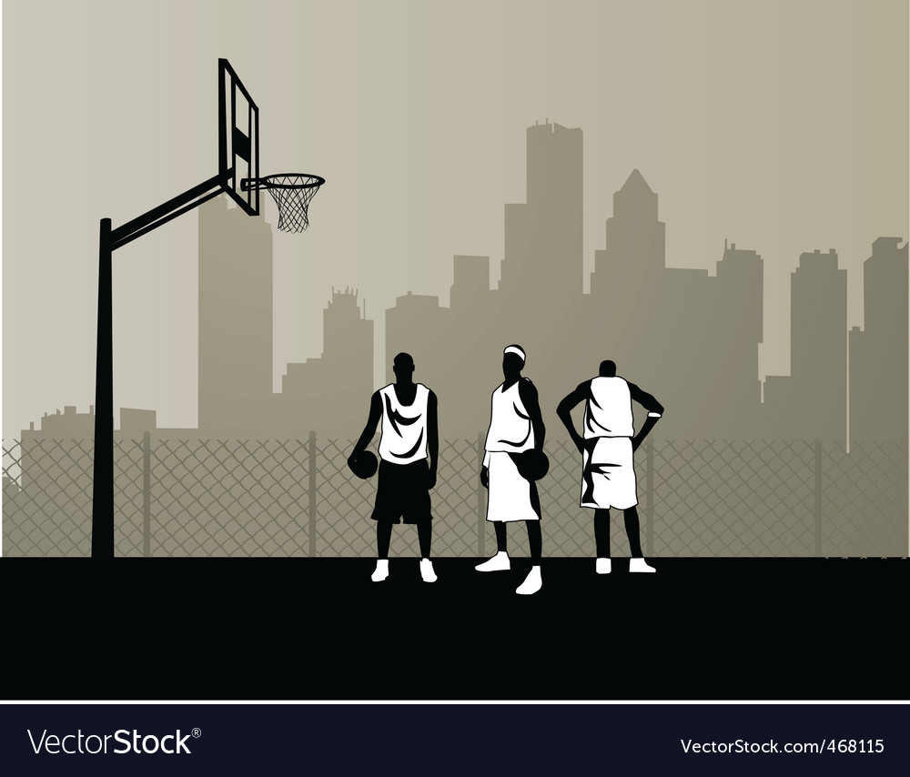 Basketball team vector | Price: 1 Credit (USD $1)