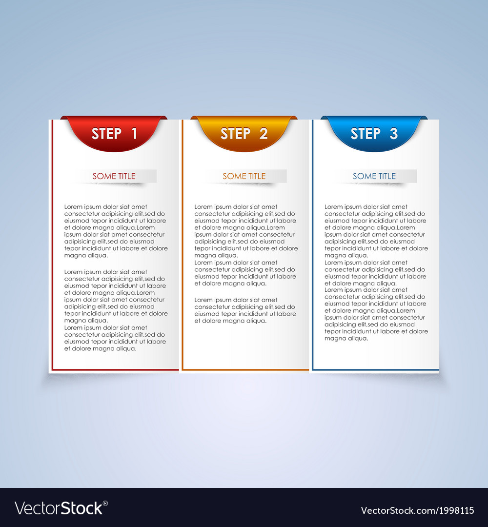 Brochure step progress design element vector | Price: 1 Credit (USD $1)