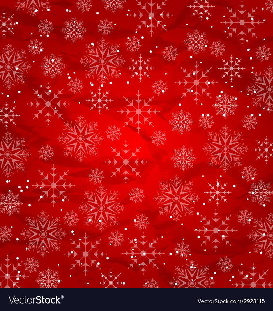 Christmas red wallpaper snowflakes texture vector | Price: 1 Credit (USD $1)