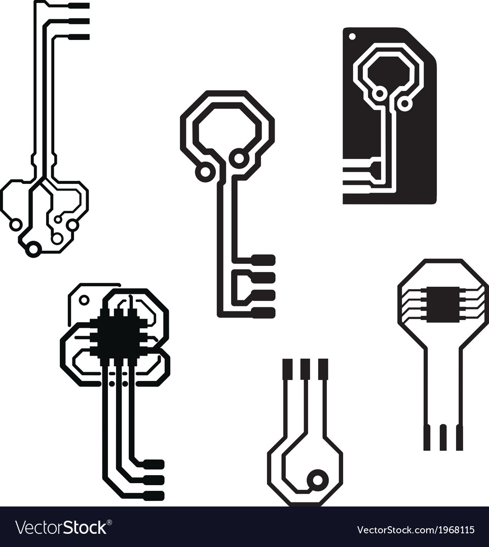 Electronic circuit keys vector | Price: 1 Credit (USD $1)