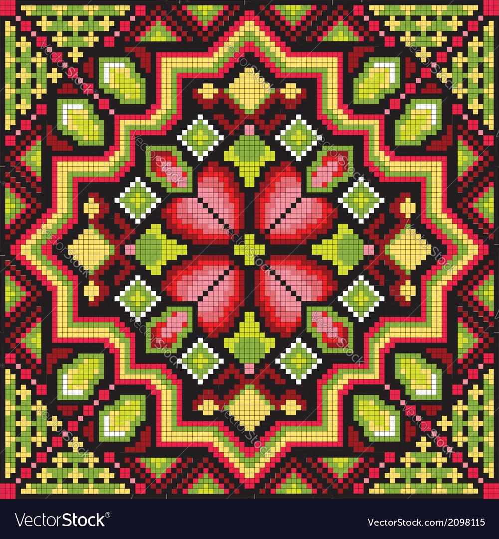Ethnic ukrainian mosaic vector   Price: 1 Credit (USD $1)