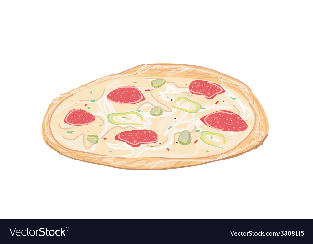 Fresh pizza vector | Price: 1 Credit (USD $1)