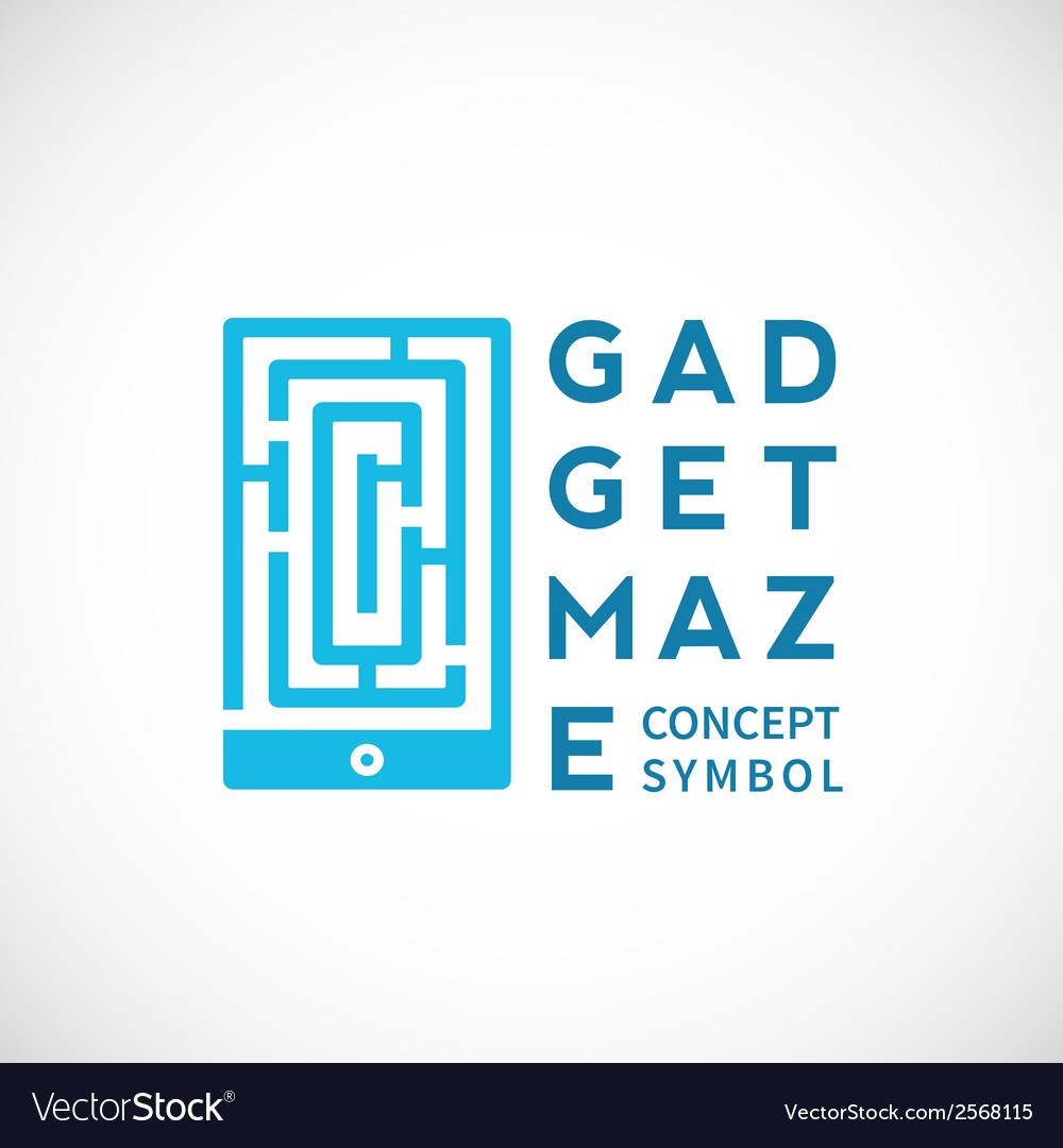 Gadget maze abstract concept icon vector | Price: 1 Credit (USD $1)