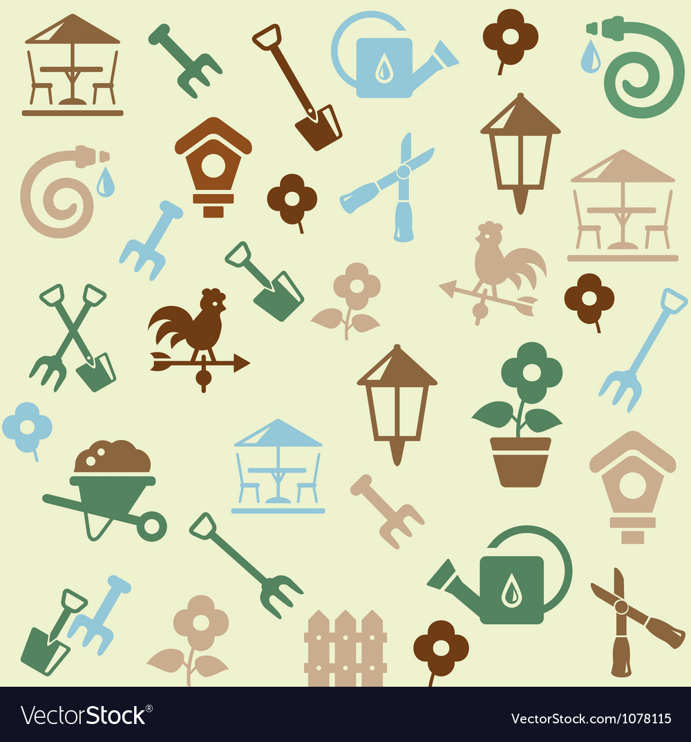 Gardening pattern vector | Price: 1 Credit (USD $1)