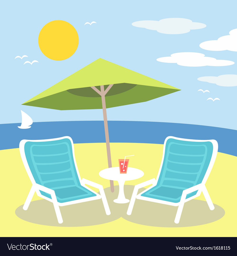 Lounge chairs vector | Price: 1 Credit (USD $1)