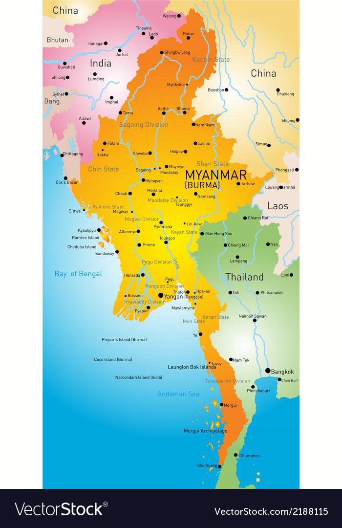 Myanmar vector | Price: 1 Credit (USD $1)