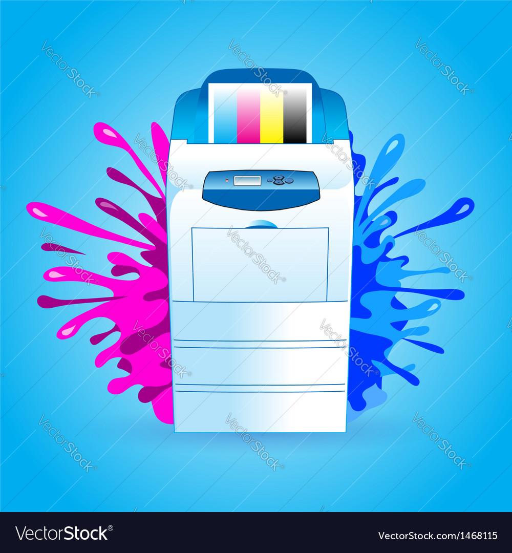 Printer cmyk print splash vector | Price: 1 Credit (USD $1)