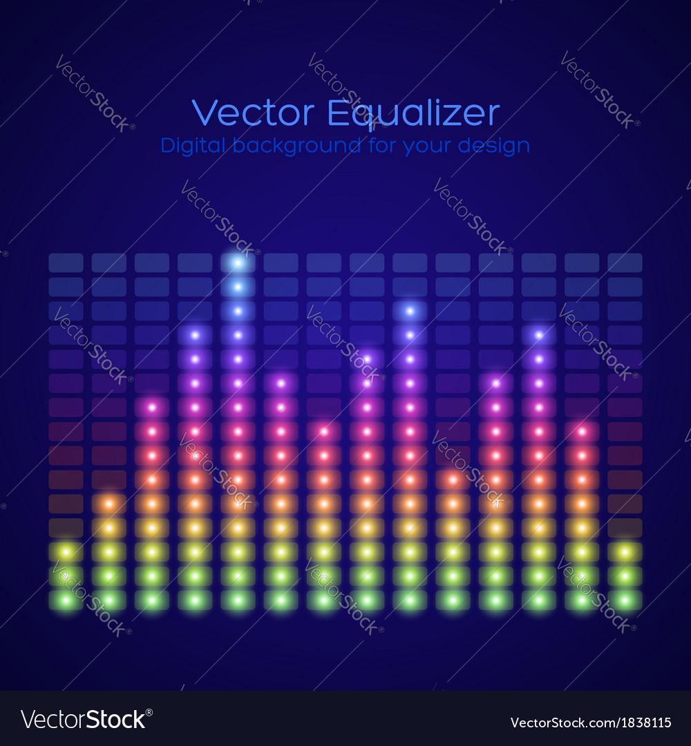 Rainbow equalizer vector | Price: 1 Credit (USD $1)