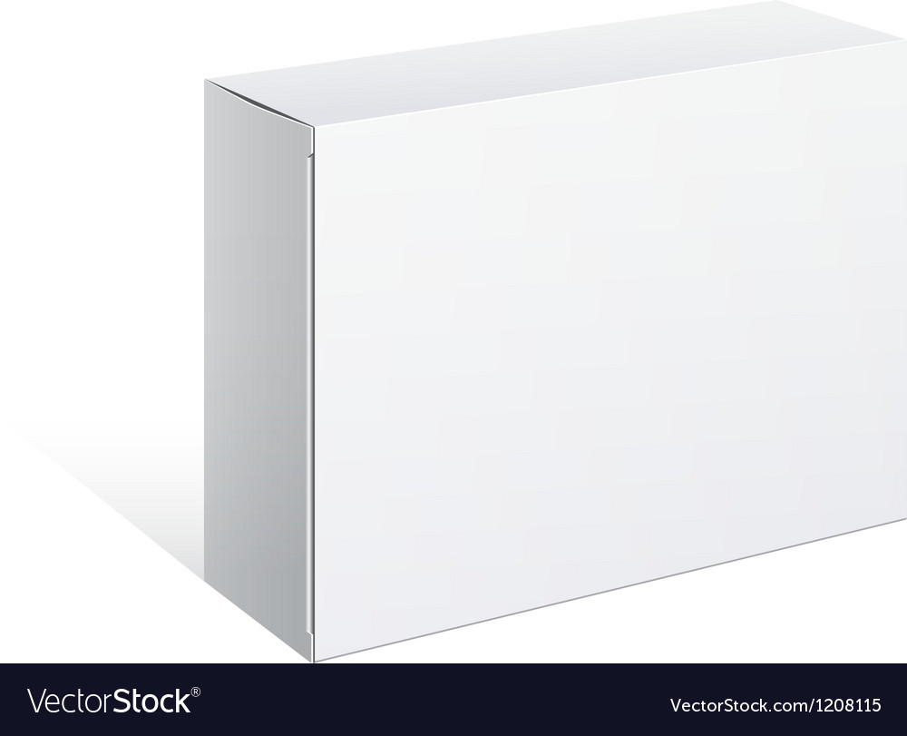 Realistic white package box for software vector | Price: 1 Credit (USD $1)