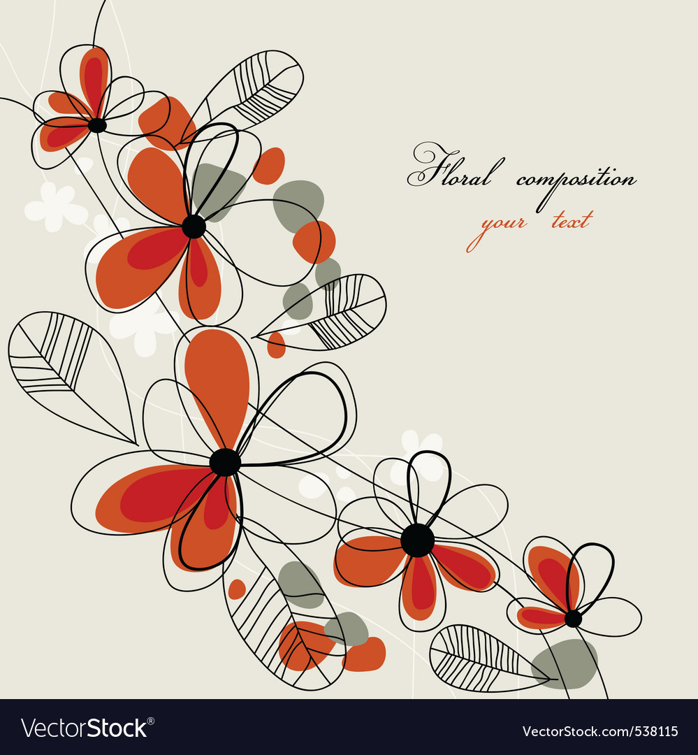 Romantic floral vector | Price: 1 Credit (USD $1)