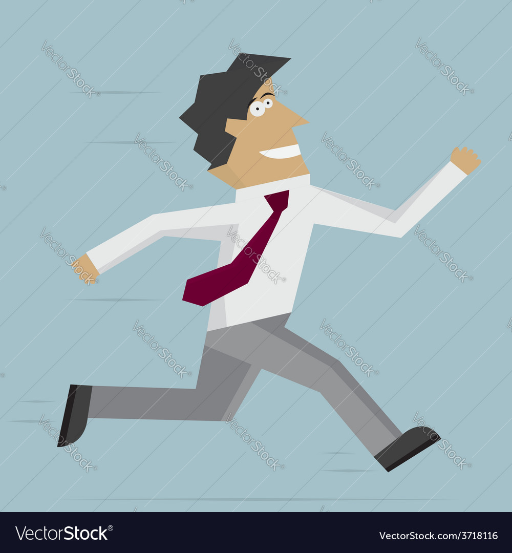 Businessman run forward vector | Price: 1 Credit (USD $1)