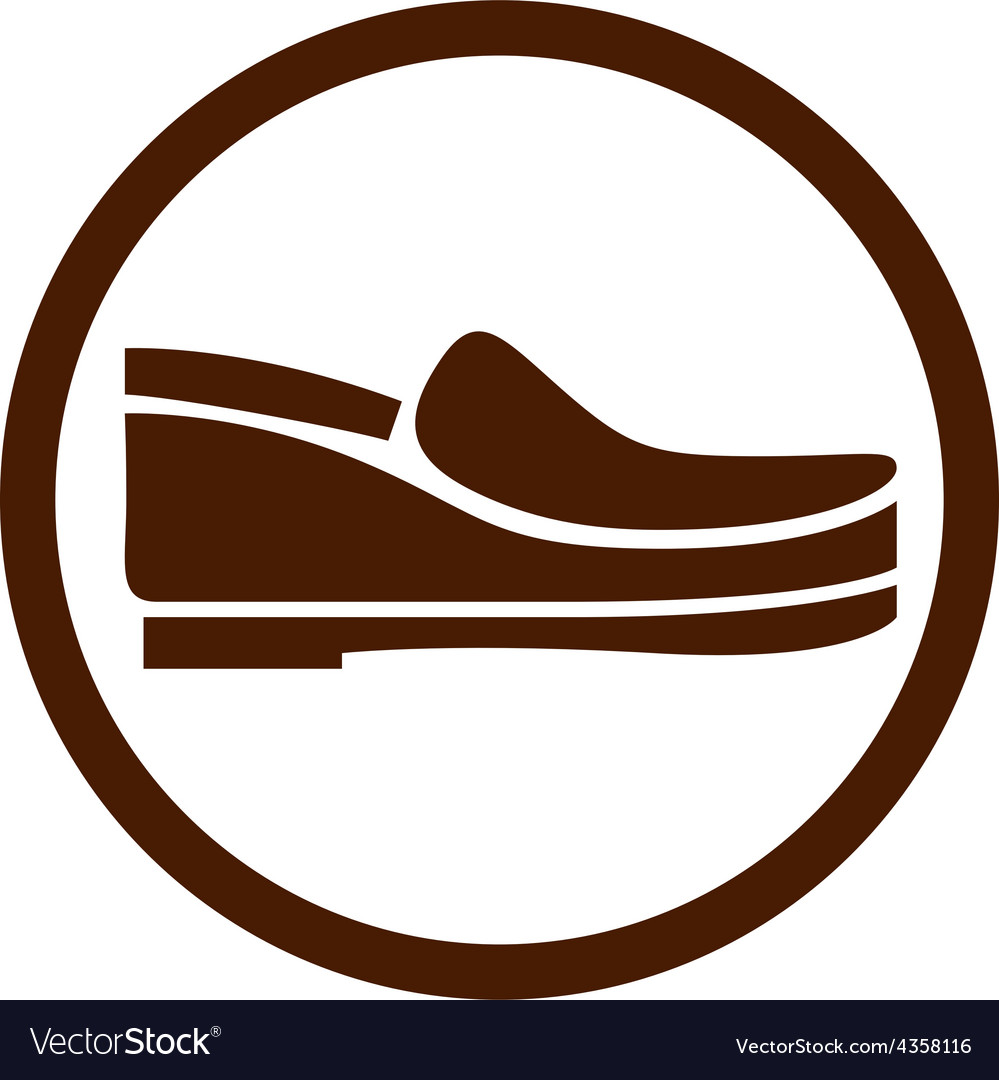 Footwear icon shoes pictogram vector | Price: 1 Credit (USD $1)
