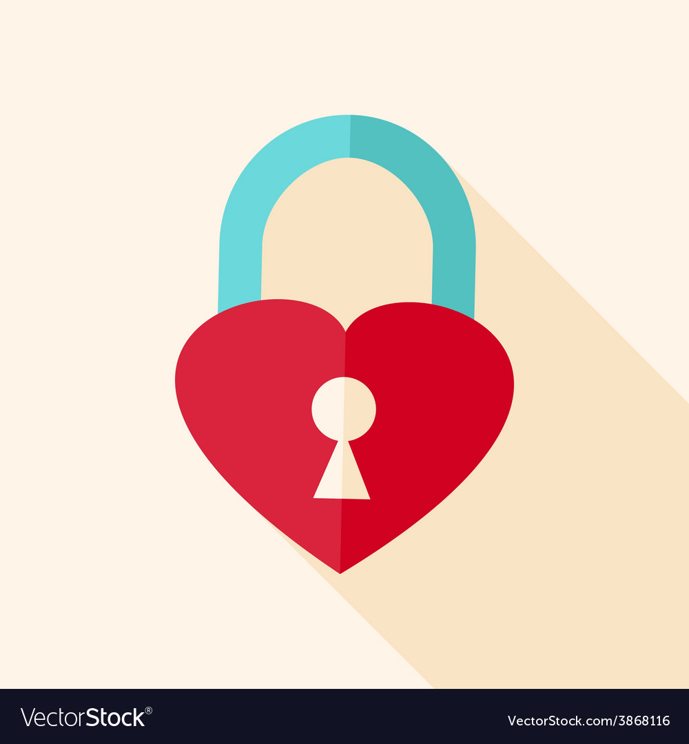 Heart shaped padlock vector | Price: 1 Credit (USD $1)
