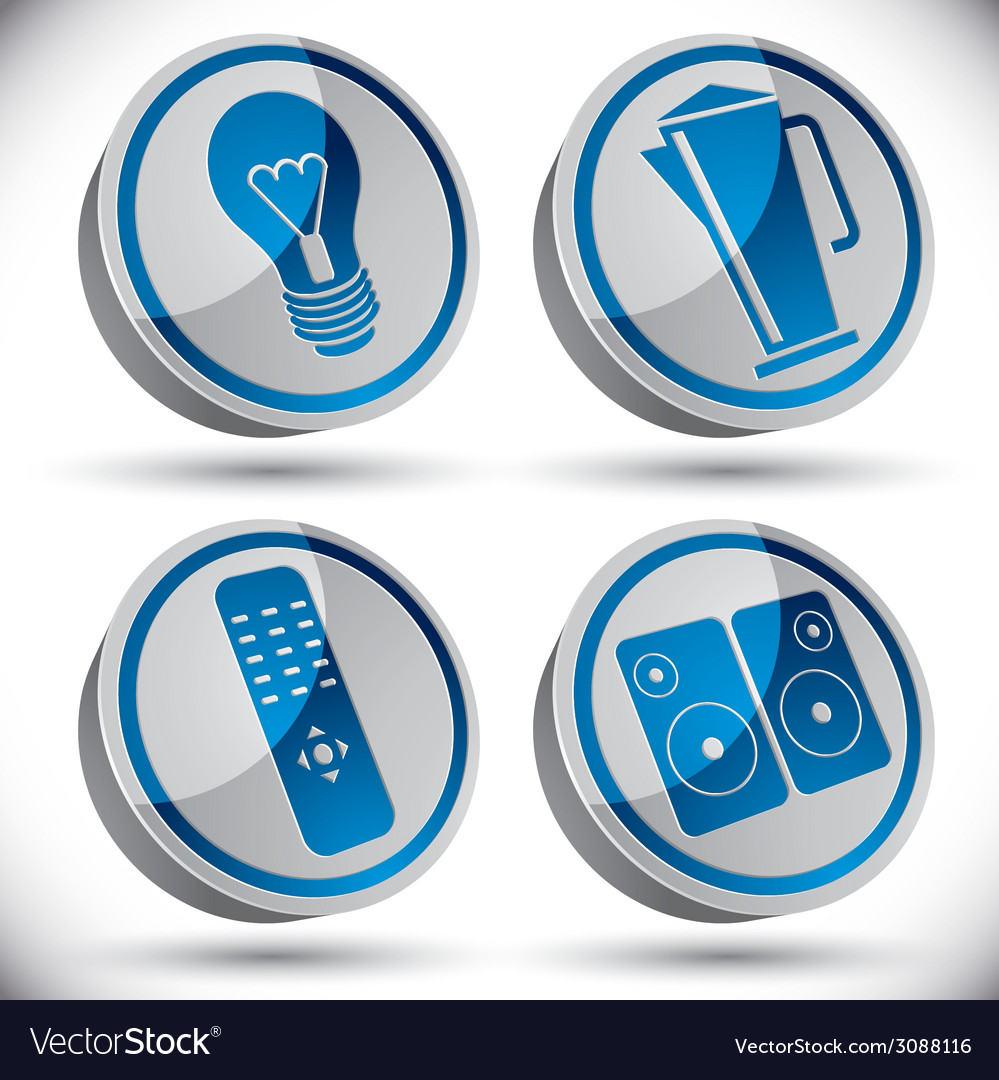 Household appliances icons set 2 vector   Price: 1 Credit (USD $1)