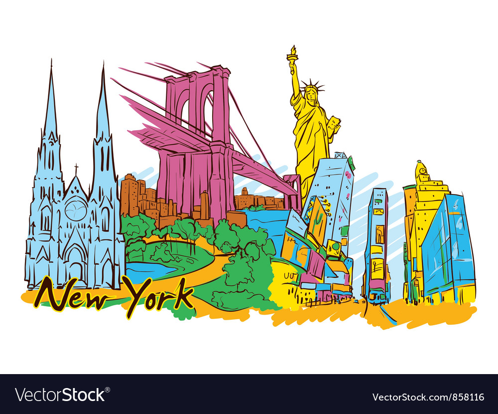 New york doodles vector | Price: 3 Credit (USD $3)
