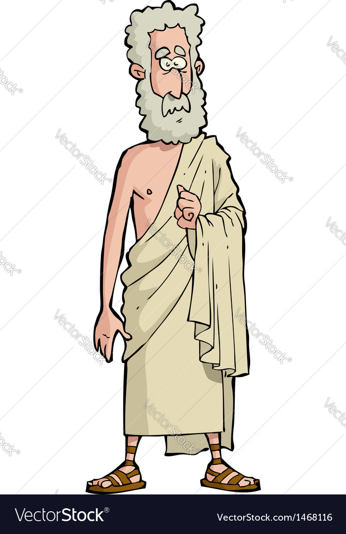 Roman philosopher vector | Price: 1 Credit (USD $1)