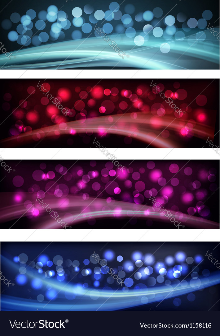 Set of colorful abstract business banners vector | Price: 1 Credit (USD $1)