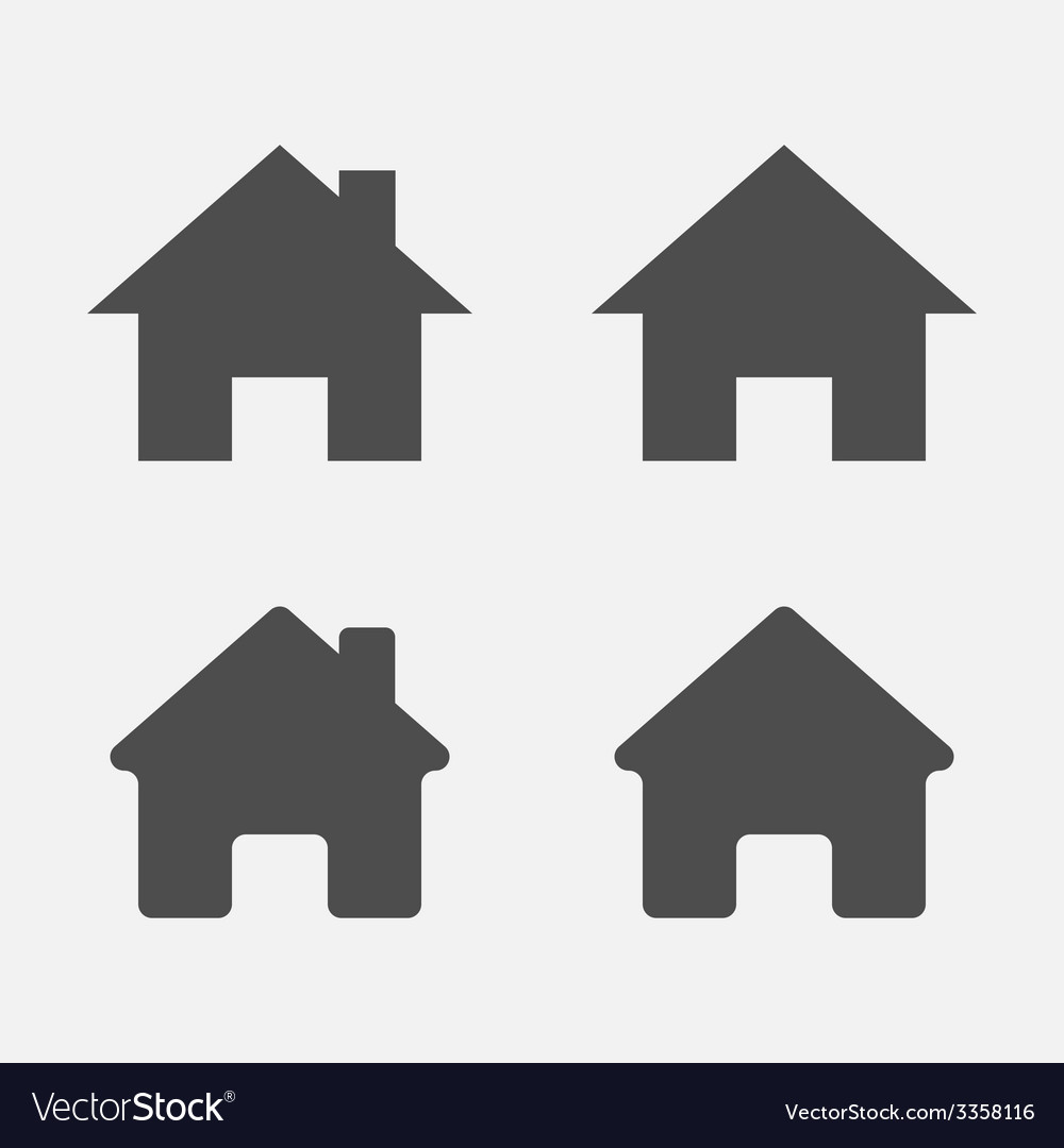 Set of home icons home sign symbol vector | Price: 1 Credit (USD $1)