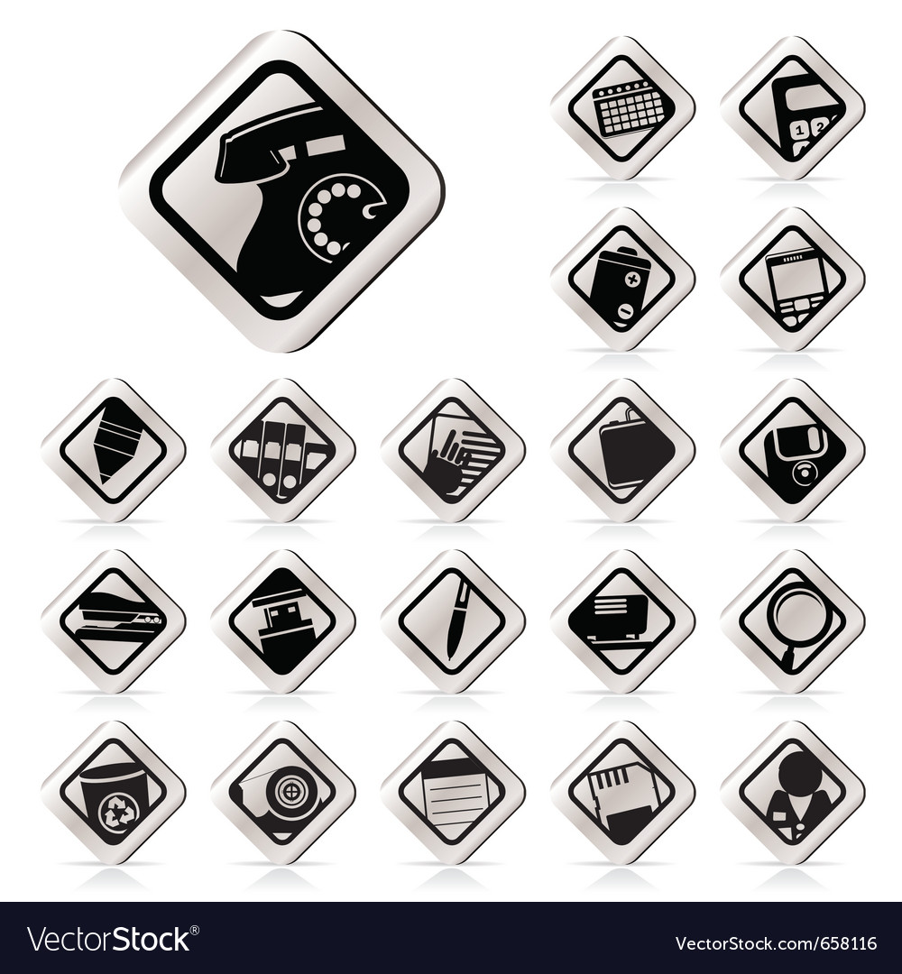 Simple office tools icons vector | Price: 1 Credit (USD $1)