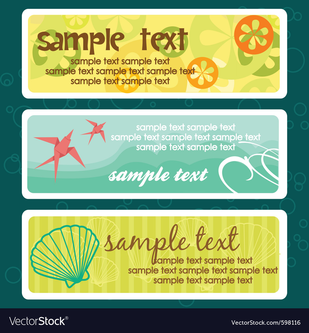 Summer banners vector | Price: 1 Credit (USD $1)