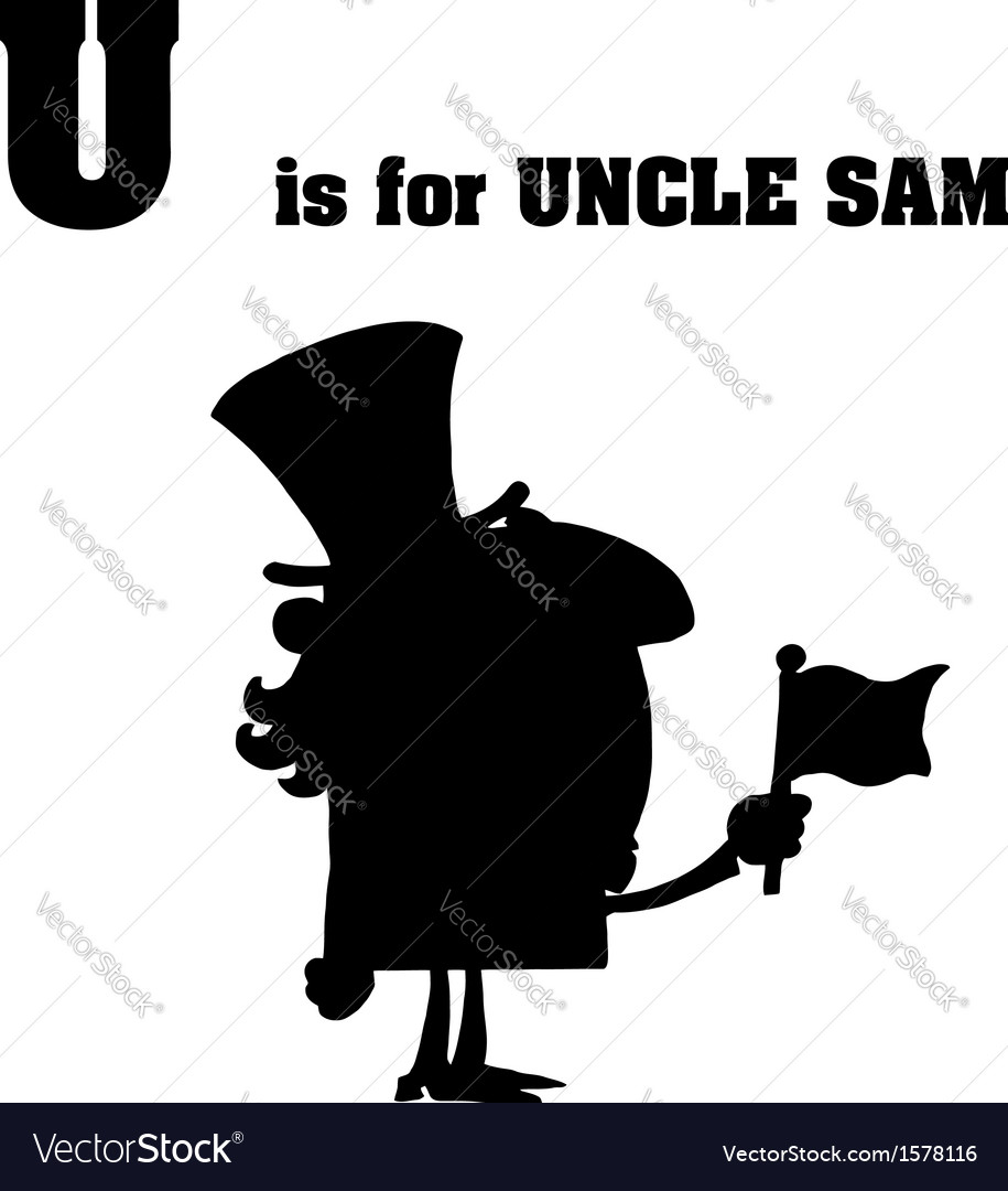 Uncle sam cartoon silhouette vector | Price: 1 Credit (USD $1)