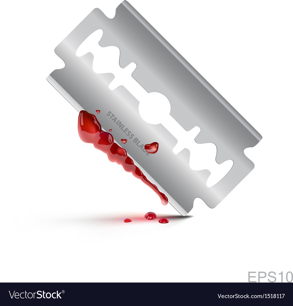 Bloody stainless blade on isolate background vector | Price: 1 Credit (USD $1)
