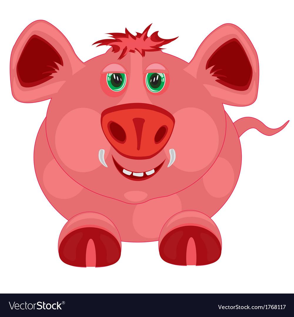 Cartoon to pigs vector | Price: 1 Credit (USD $1)