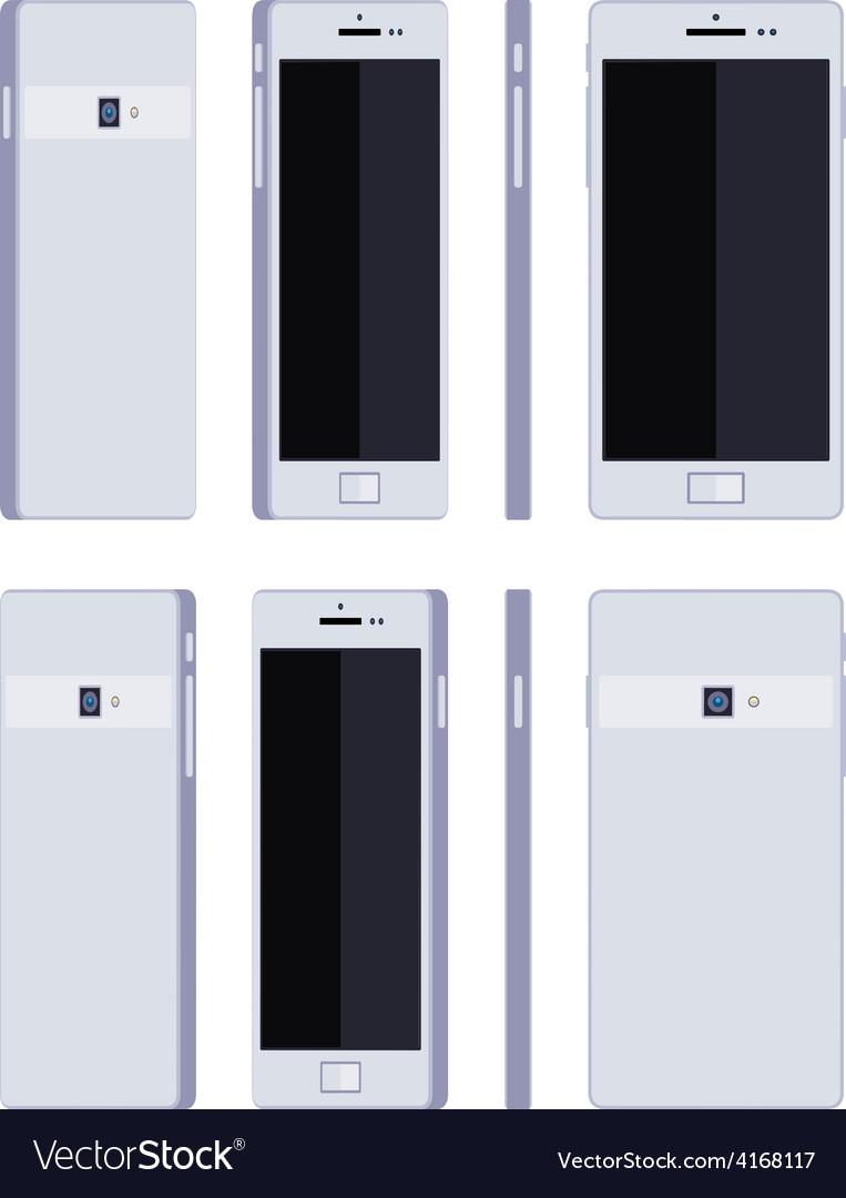 Generic white smartphone vector | Price: 1 Credit (USD $1)