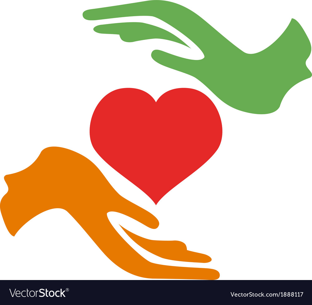 Hands hold heart vector | Price: 1 Credit (USD $1)