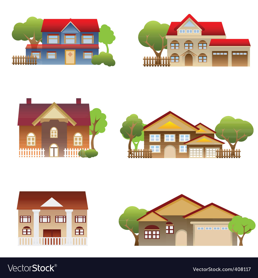 Houses vector | Price: 3 Credit (USD $3)