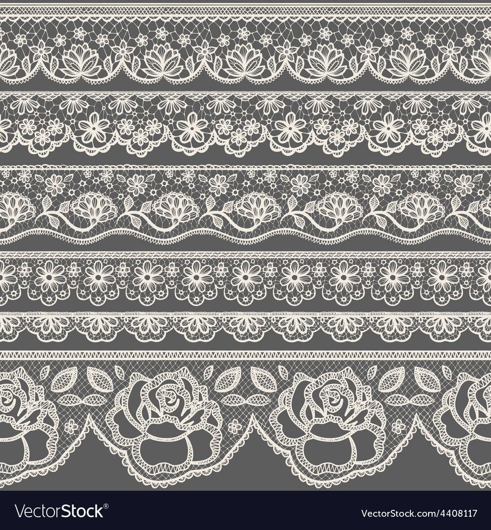 Lace borders vector