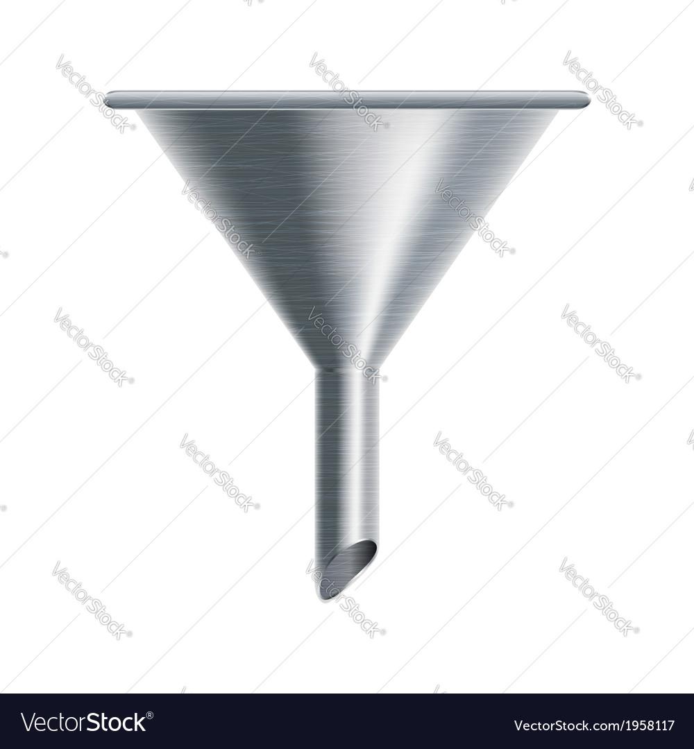 Metallic funnel vector | Price: 1 Credit (USD $1)