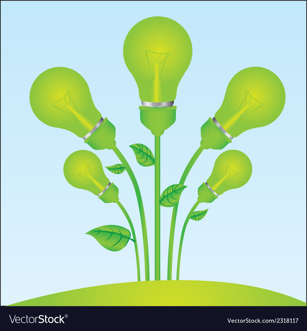 Planting of green bulb vector | Price: 1 Credit (USD $1)