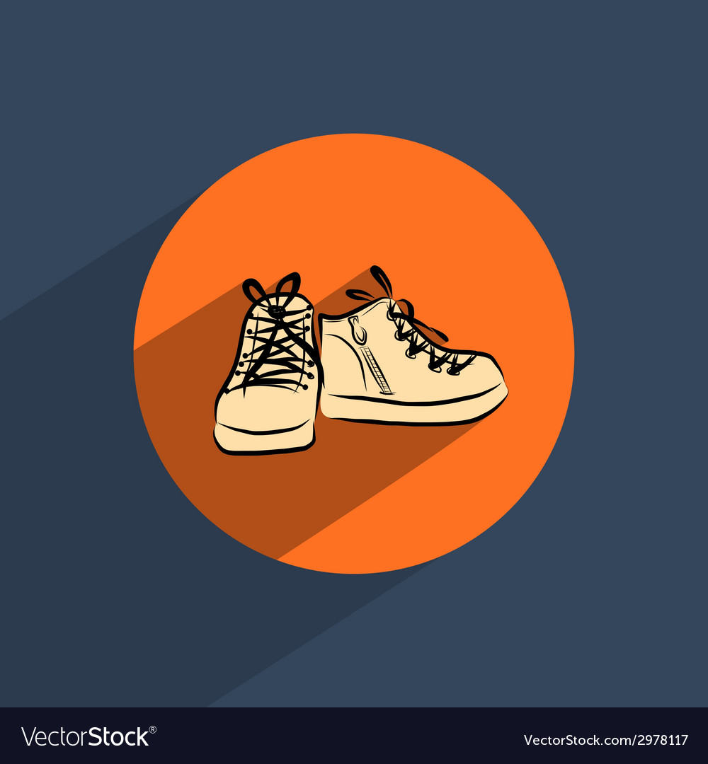 Shoes flat doodle icon vector | Price: 1 Credit (USD $1)