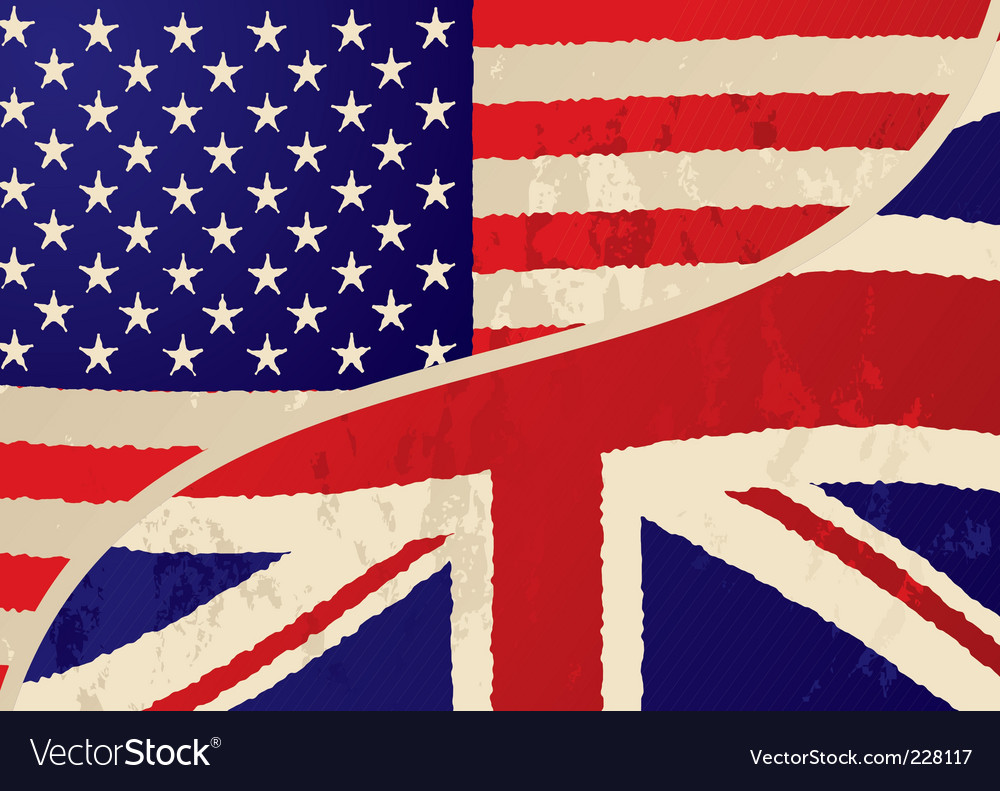 Usa british grunge flag vector | Price: 1 Credit (USD $1)