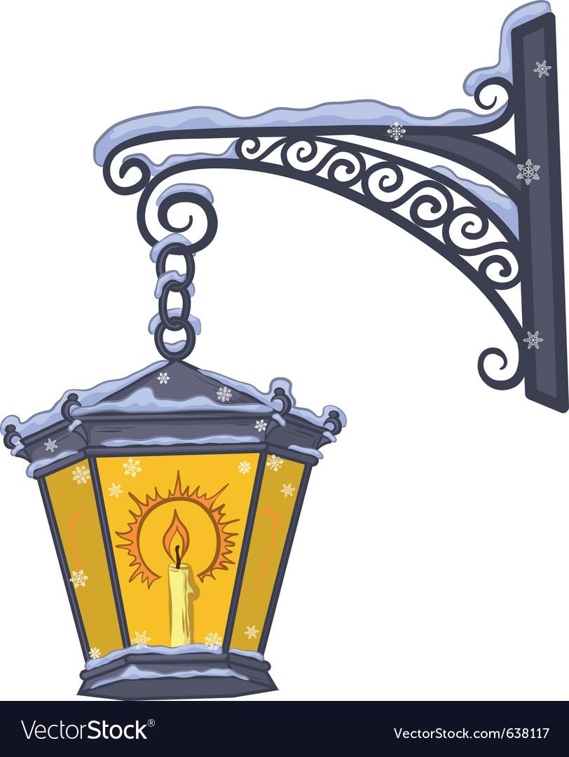 Vintage lantern vector | Price: 3 Credit (USD $3)