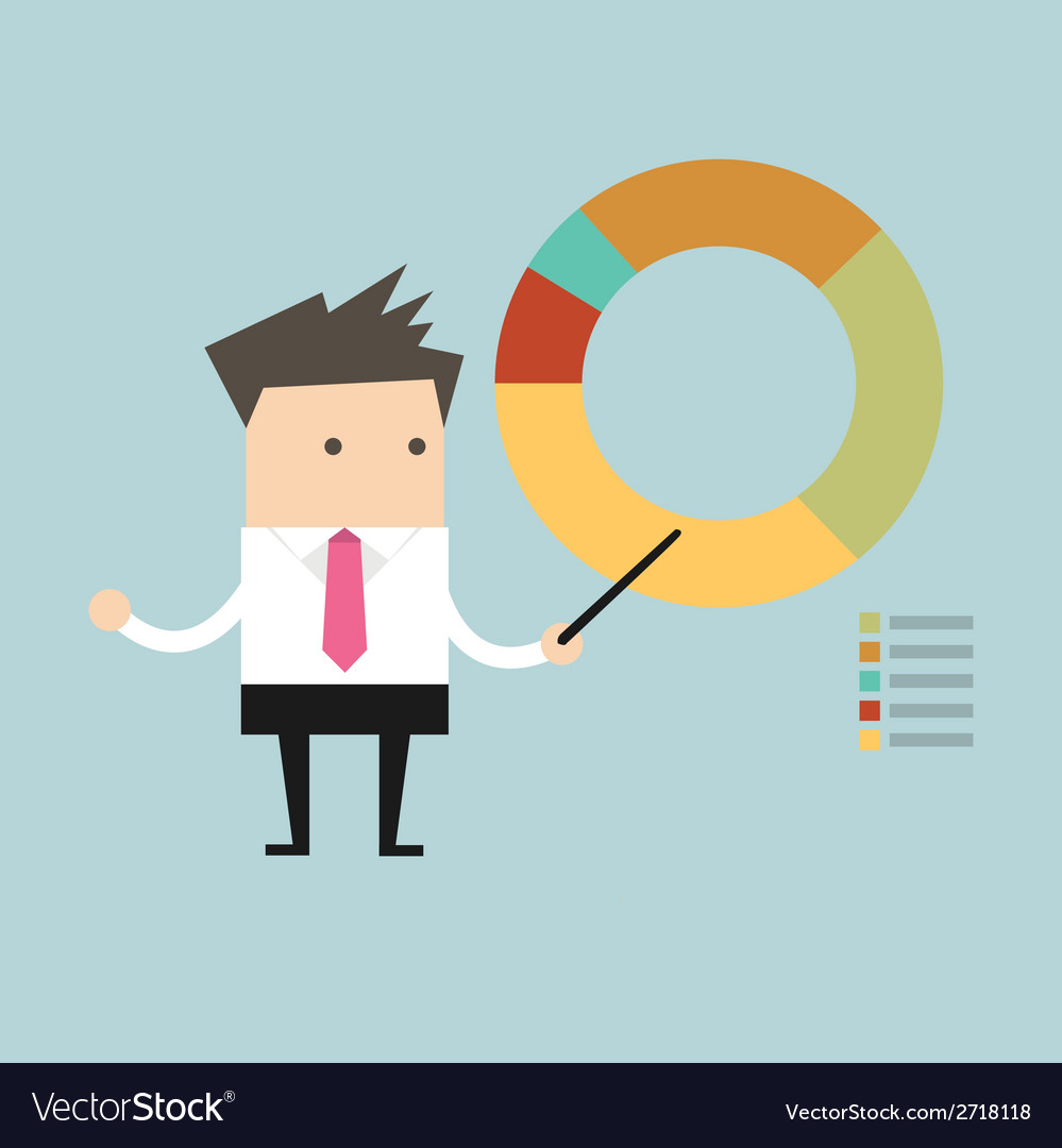 Businessman points to chart vector | Price: 1 Credit (USD $1)